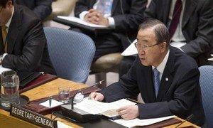 Secretary-General Ban Ki-moon addresses the Security Council on peacebuilding.