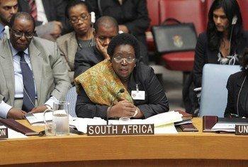 Nkosazana Dlamini-Zuma, de l'Afrique du Sud, nouvelle Présidente de la Commission de l'Union africaine. ONU Photo/Devra Berkowitz.