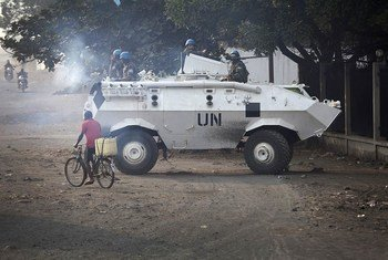 MONUSCO troops provide security for civilians in Goma, DR of Congo against M23 attacks.