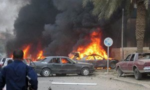 The aftermath of a bombing attack in Iraq (file photo).
