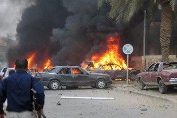 Attaque à la bombe en Iraq. Photo (archive): IRIN