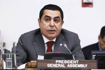 President of the General Assembly Nassir Abdulaziz Al-Nasser.