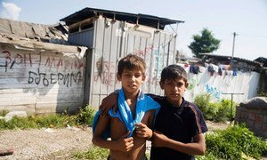 Young forcibly-displaced Roma from south-east Europe. Many have no citizenship which affects their daily lives.