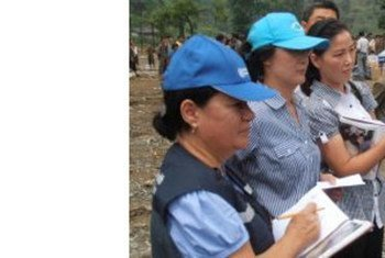 UN team on assessment mission to the flood-affected areas.