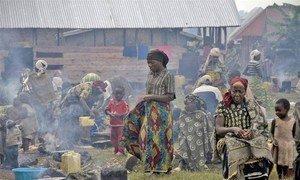 Des personnes déplacées au Nord Kivu en RDC.