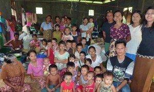 Internally displaced people in Myanmar sheltering in Shwe Zayti monastery, Sittwe, after being dislodged from their homes in Rakhine.