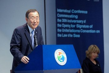 Secretary-General Ban Ki-moon addresses event in Yeosu, Republic of Korea, where he launched a new initiative to protect oceans.