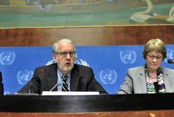 UN Independent International Commission of Inquiry (CoI) on Syria members: Chairperson Paulo Sergio Pinheiro (left) and Karen Koning AbuZayd.