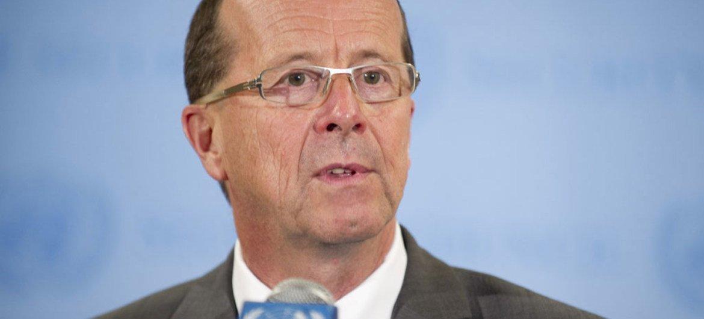 Le Représentant spécial du Secrétaire général pour l'Iraq, Martin Kobler.