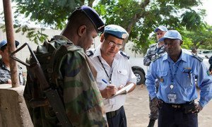 UNOCI on patrol in Abidjan in the wake of recent attacks.