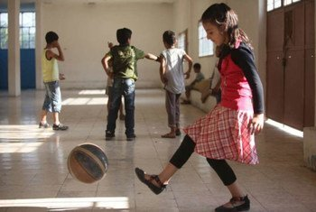 UNHCR and partners have organized activities for Syrian refugee children in the Bekaa Valley.