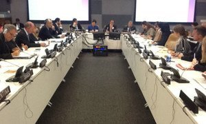 A delegation from CICIG presents  the body's 2012-2013 strategic work plan at UN Headquarters.