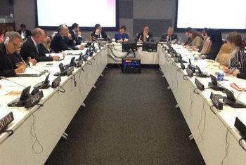 El Comisionado de la CICIG presentando su plan de trabajo en la ONU. Foto de archivo: CICIG