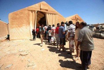 Des réfugiés syriens.