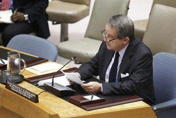 Le Représentant exécutif du Secrétaire général en Sierra Leone, Jens Anders Toyberg-Frandzen. ONU Photo/JC McIlwaine