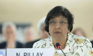 La Haut Commissaire aux droits de l'homme, Navi Pillay.