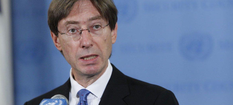 Le Président du Conseil de sécurité pour le mois de septembre 2012, l'Ambassadeur Peter Wittig, de l'Allemagne.