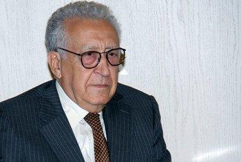 Le Représentant spécial conjoint des Nations Unies et de la Ligue des États arabes en Syrie, Lakhdar Brahimi.