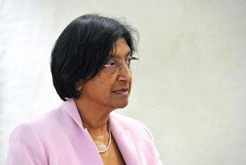 La Haut Commissaire des Nations Unies aux droits de l'homme, Navi Pillay. ONU Photo/Violaine Martin