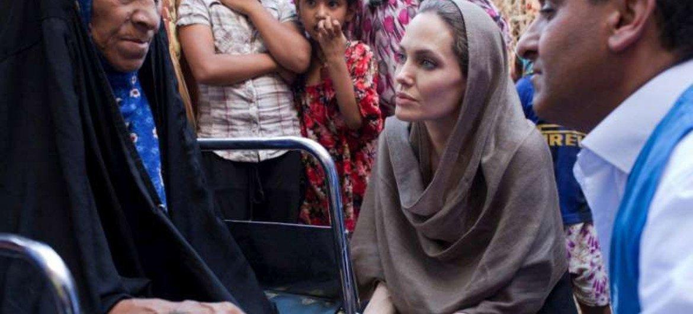 Angelina Jolie en Iraq.