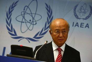 Le Directeur général de l'Agence internationale à l'énergie atomique (AIEA), Yukiya Amano.
