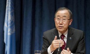 Secretary-General Ban Ki-moon briefs the press on forthcoming session of the General Assembly, among other topics.