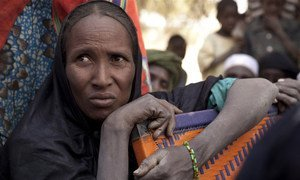 A Malian refugee woman in Mangaize, northern Niger. Many Malians have fled to neighbouring countries because of the general insecurity and humanitarian situation in the country's north.