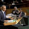 US President Barack Obama addresses the general debate of the 67th session of the UN General Assembly.