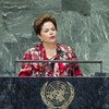 President Dilma Rousseff of Brazil addresses the General Assembly.