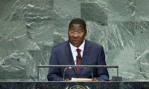 Le Président du Bénin, Boni Yayi, s'adresse à l'Assemblée générale des Nations Unies.
