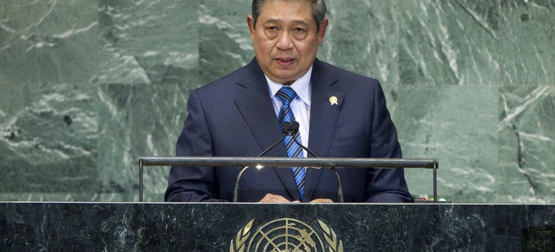 President of Indonesia Susilo Bambang Yudhoyono addresses General Assembly.