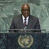 President Hifikepunye Pohamba of Namibia addresses the General Assembly.