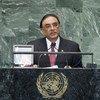 President Asif Ali Zardari of Pakistan addresses the General Assembly.