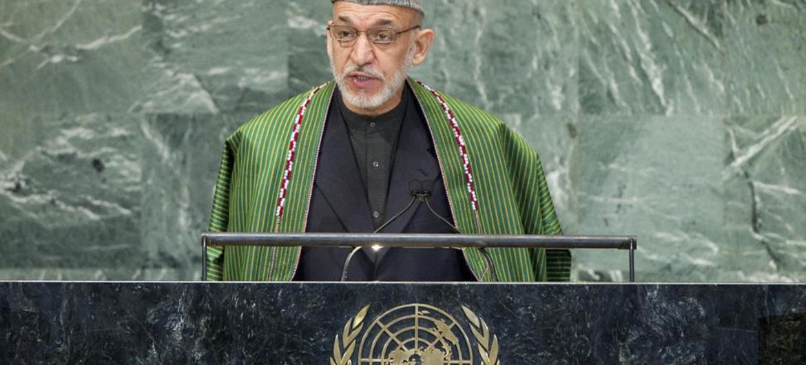 President Hamid Karzai of Afghanistan addresses the General Assembly.