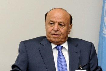 Le Président du Yémen, Abd Rab Mansour Hadi. Photo ONU/E. Schneider