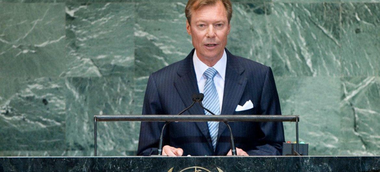 Grand Duke Henri of Luxembourg addresses UN General Assembly.