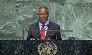 President Michael Chilufya Sata of Zambia addresses General Assembly.