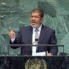 2012年,时任埃及总统的穆尔西出席联合国大会第67届会议高级别辩论。