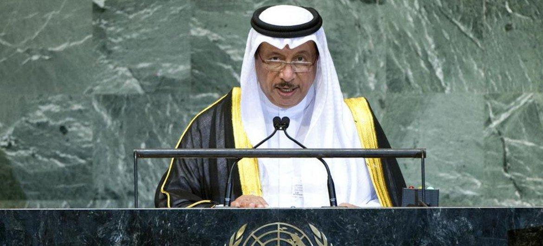 Prime Minister Sheikh Jaber al Mubarak al Hamad al Sabah of Kuwait addresses the General Assembly.