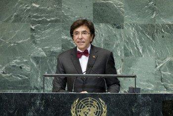 Le Premier Ministre de Belgique Elio Di Rupo. Photo ONU/M. Castro