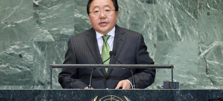 President Tsakhia Elbegdorj of Mongolia.