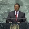 Le Vice-Président du Burundi, Thérence Sinunguruza, à la tribune de l'Assemblée générale.