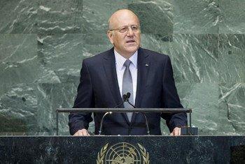 Le Président du Conseil des Ministres du Liban, Najib Mikati, s'adresse à l'Assemblée générale.