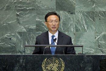 Le Ministre des affaires étrangères chinois Yang Jiechi. Photo ONU/J Carrier