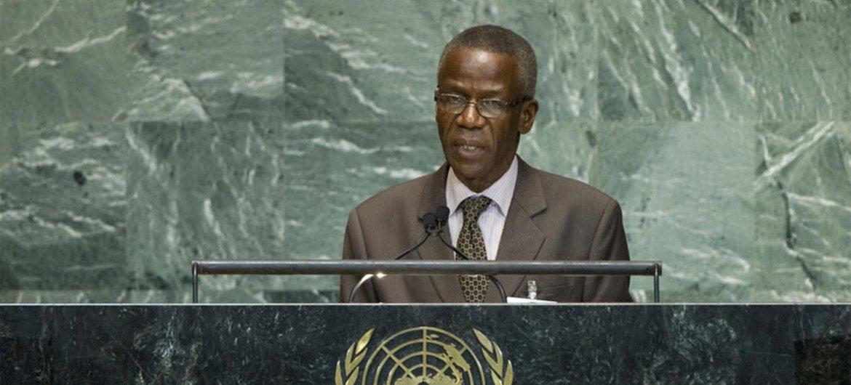 Le Ministre des affaires étrangères de Guinée, Édouard Niankoye Lama. Photo ONU/J Carrier