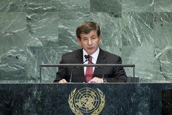 Le Ministre turc des affaires étrangères, Ahmet Davutoglu.