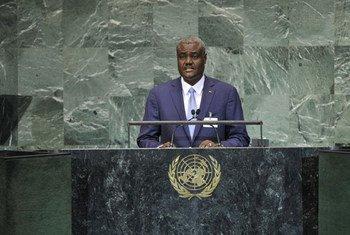 Le Ministre des Affaires étrangères et de l'intégration africaine du Tchad, Moussa Faki Mahamat.
