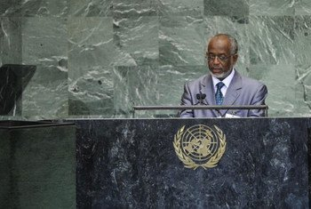 Le Ministre des affaires étrangères du Soudan, Ali Ahmed Karti, à la tribune de l'Assemblée générale.