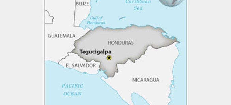 Carte du Honduras. OCHA/ReliefWeb