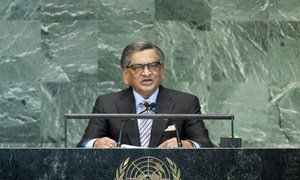 S. M. Krishna, Minister for External Affairs of India.